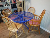 Blue table and four chairs in Roseville, California