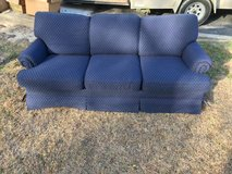 Blue Fabric Sofa / Couch in Camp Lejeune, North Carolina