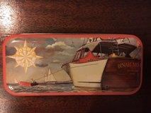"1991 fossil watch tin - 5.5"" x 2.5"" - boat with ""dinah mo"" on it's aft in Fort Belvoir, Virginia"