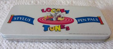 1994 looney tunes  stylus pen pals multi color warner brothers tin in Fairfax, Virginia