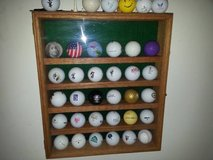 Golf Ball display case in Joliet, Illinois