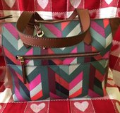 fossil fiona ew chevron blue tote bag zb7485937 handbag $138 in Westmont, Illinois