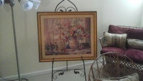 framed floral print and easel in O'Fallon, Missouri