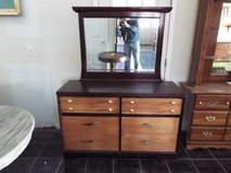 Dresser with Mirror*6 drawers*All Wood*Vintage*Ex Cond in Fort Leonard Wood, Missouri