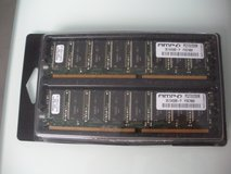two wintec ampo 256mb 184-pin ddr sdram ddr 333 (pc 2700) desktop memory modules in Chicago, Illinois