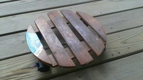 Mainstays Wood Plant Caddy / Holder on Wheels in Tomball, Texas