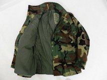 m-65 military woodland coat field jacket bdu cold weather  medium / liner  31370 in Fort Carson, Colorado
