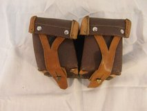 vintage camera pouches brown tan leather strap closed belt mount 31591 in Huntington Beach, California