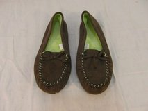 adult womens sg footwear brown suede green furry inside mocassins slip on 31664 in Fort Carson, Colorado