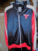 Unk Chicago Bulls NBA Full Zip Warm-up  Jacket  Black , Red  & White Large in Liberty, Texas