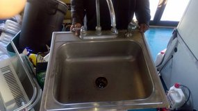 Large Stainless Single Bay Sink with Faucet in DeKalb, Illinois