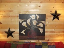 A UNIQUE SALE HERE OIL CLOTH PAINTING AND 2 BARN STARS in Naperville, Illinois