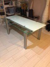 Extendable Glass Dining Room Table in Naperville, Illinois