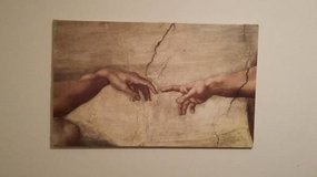 "Creation of Adam painting 22"" Tall x 35.5"" Wide in Plainfield, Illinois"
