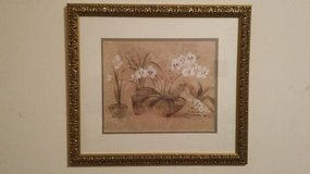 Cheri Blum Four Potted Orchids framed painting in Chicago, Illinois