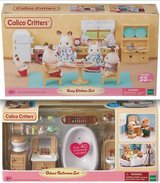 New! Calico Critters Kozy Kitchen --OR-- Deluxe Bathroom Set in Orland Park, Illinois