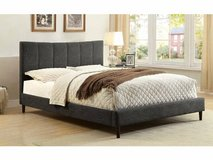 New! QUEEN or KING GRAY Linen Bed Frame FREE DELIVERY starting in Oceanside, California