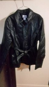 Ladies Leather Jacket/Car Coat (large) in Cleveland, Texas