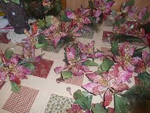 Artificial Greenery with Pink Silk Flower Blossoms Bunches! 8pcs Pretty! in Bellaire, Texas