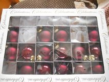 Pretty Solid Burgundy Red Ornament Glass Balls!  Partial Package of 15 in Bellaire, Texas