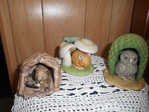Woodland Surprises Animal Figurines  by  Franklin Mint! Porcelain figurine sets OWL, MOUSE, and ... in Bellaire, Texas