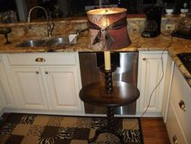 REDUCED  ALL WOOD 1940S-1950S TABLE LAMP COMBO in Orland Park, Illinois