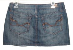 Refuge Embellished Embroidered Denim Jean Skirt Womens 7 Juniors Stretch in Chicago, Illinois