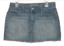 Old Navy Ultra Low Waist Cutoff Denim Jean Skirt Womens 8 in Joliet, Illinois