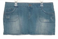 So Snap Flap Pocket Denim Jean Skirt Womens 17 Juniors Stretch in Joliet, Illinois