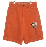 Mens 34 x 14  Diss Phat Papa Orange 7 Pocket Denim Jean Shorts Tag 36x14 1/2 in Joliet, Illinois