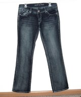 Myth of Jade Flap Pocket Embroidered Boot Cut Denim Jeans Womens 10 x 31 in Joliet, Illinois