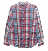 Gap L/S Classic Fit Plaid Button Down Shirt w Pocket Mens Large Blue Red White in Chicago, Illinois