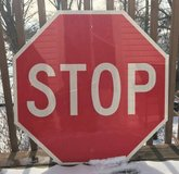 "Retired VINTAGE ALUMINUM STOP Sign - 30"" x 30"" in Naperville, Illinois"