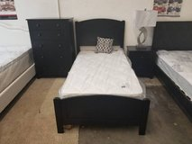 New Black Hardwood TWIN Bed or Chest or Nightstand starting.. in Oceanside, California