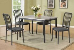 New! Natural Wood Finish Dining Table + 4 Chairs Set FREE DELIVERY in Oceanside, California