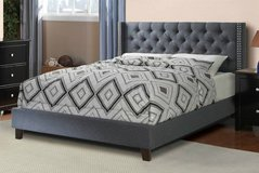 New! QUEEN Blue Gray Upholstered Frame FREE DELIVERY in Oceanside, California