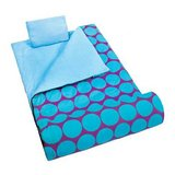Big Dots Aqua Sleeping Bag With Travel Pillow & Storage Bag - New! in Naperville, Illinois
