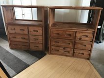 Two 6 Drawer 1 Shelf Solid Pine Dresser by Woodcrest in Shorewood, Illinois