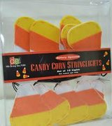 NEW Felt Candy Corn Garland Light Wreath Set 10ct Bulbs Battery Operat in Batavia, Illinois