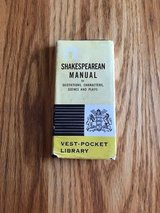 Shakespearean Manual of Quotations Characters Scenes Plays Vest-pocket Library in Naperville, Illinois