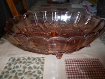 Vintage Indiana Carnival Glass Oval Footed Fruit Bowl Pink RARE Color in Bellaire, Texas