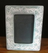 Pottery Grapevine Design 7 x 5 3/8 Inch Photo Frame Made in Greece in Naperville, Illinois