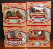 Set of 4 Radio Flyer 1997 Ornament Collection Models 101-104 in Oswego, Illinois