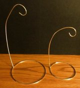 Lot of 2 Gold Brass Metal Ornament Display Stands Holders Hangers in Oswego, Illinois