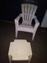 Large Plastic Lawn Chair with Stool in Sacramento, California