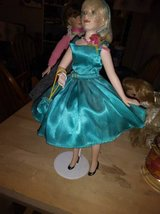 Porcelain musical doll in satin blue party dress in Vacaville, California