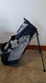 Callaway Blue/Gray Golf Bag - Pop Out Legs w/ Backpack Straps - Cover in Plainfield, Illinois