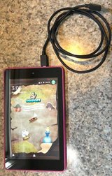 Amazon Kindle Fire HD 6 ? Wi?Fi ? 16 GB Pink with charging cable in Brockton, Massachusetts