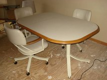 chromecraft kitchen table............. includes leaf - 3 chairs in Naperville, Illinois