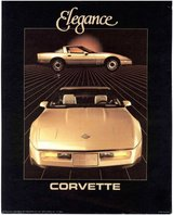 1986 Corvette Gold Chevy Chevrolet Elegance Print Litho Picture Advertisement Ad in Chicago, Illinois